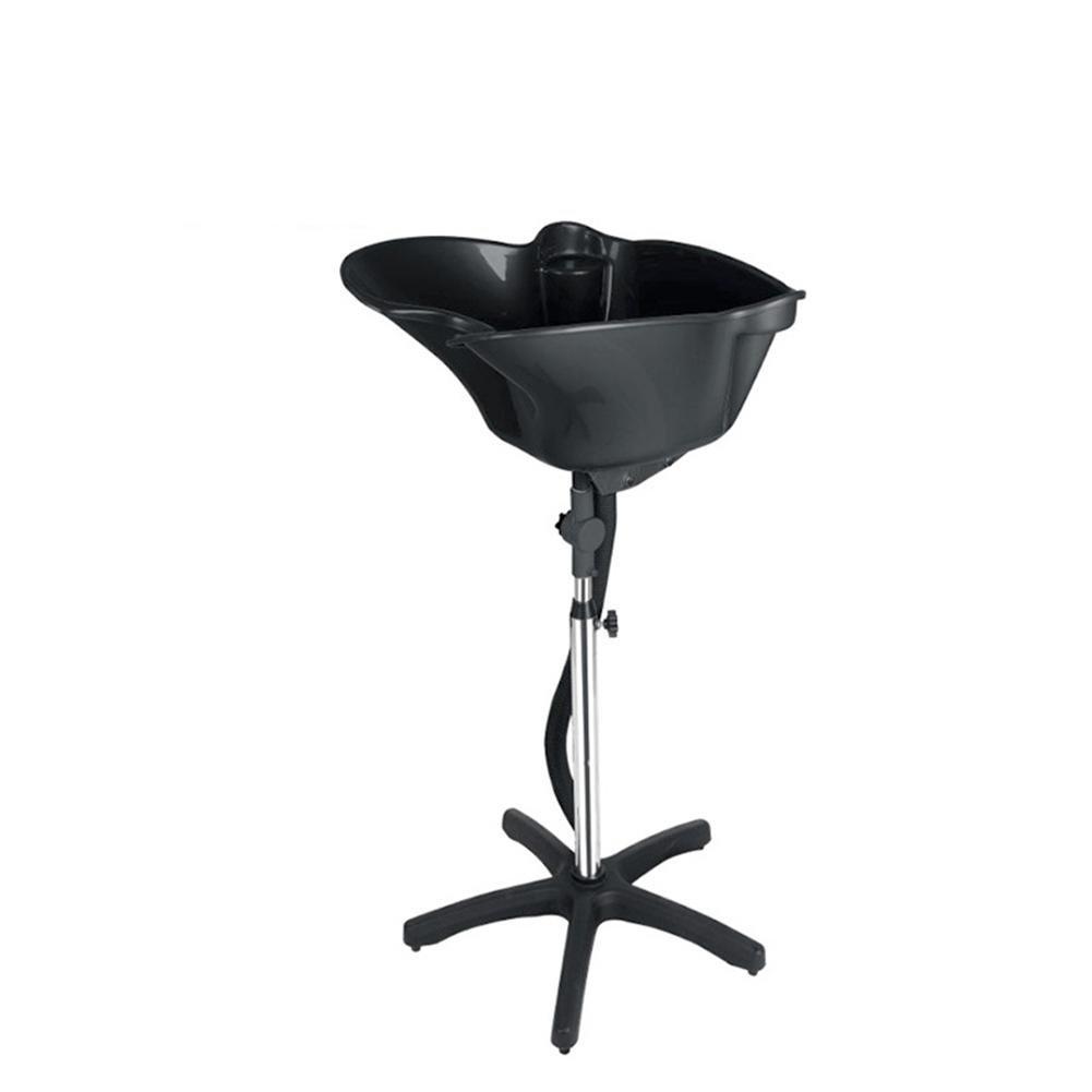 Shampoo Bowl Portable Shampoo Sink Adjustable Height Basin Hair Salon Treatment Tool Black