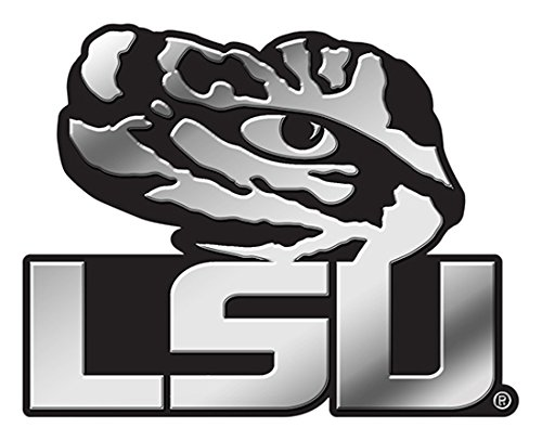 Rico Industries NCAA LSU Tigers Chrome Finished Auto Emblem 3D Sticker (Lsu Tigers Home Accessories)