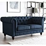 Furny Scala Two Seater Chesterfield Sofa (Blue)
