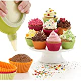 Silicone Baking Cups Muffin Cups Liners Molds Sets in Storage Container-28 Pack