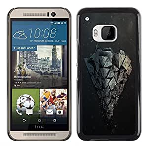 LECELL -- Funda protectora / Cubierta / Piel For HTC One M9 -- Rock Formation --