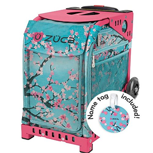 ZUCA Sport Hanami Sport Insert Bag and Pink Frame with Flashing Wheels