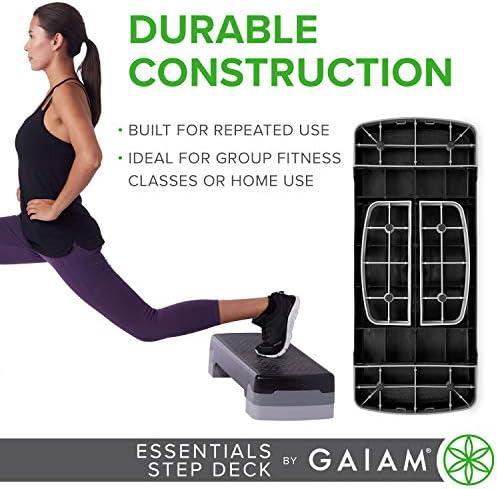 gaiam Essentials - Plataforma de Ejercicio aeróbico para escalones, Plataforma de Entrenamiento con Altura Ajustable y Superficie Texturizada Antideslizante 7