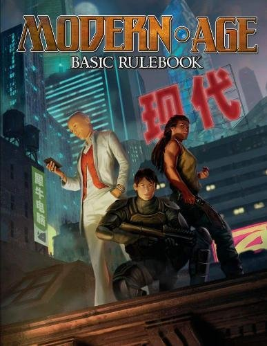 Book cover from Modern AGE Basic Rulebook by Matthew Dawkins