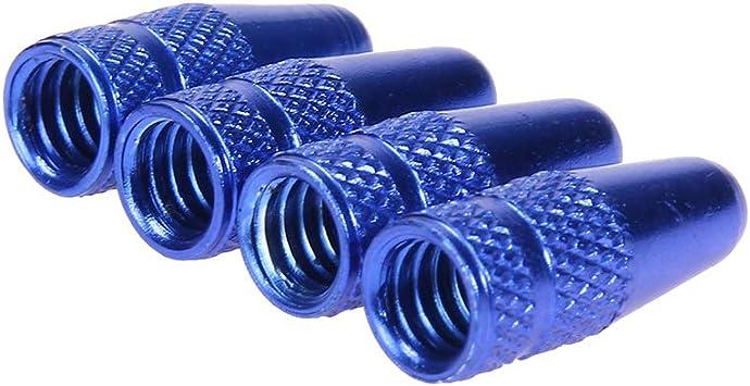 FM 4 Tapas de Tallo de v/álvula Presta 4 Piezas de v/álvulas Llave de Llave para Bicicleta Kit de Herramientas Negro//Rojo//Azul//Dorado//Verde