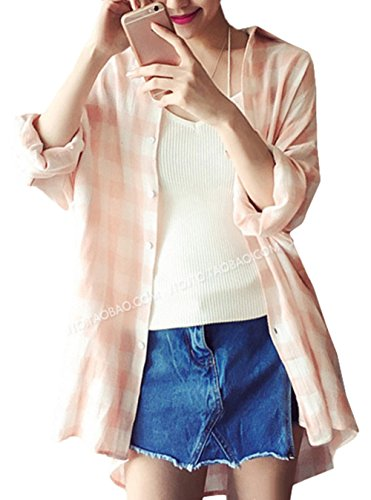 Bevalsa日焼け止め服 長袖コート 格子 エアコンシャツ UVカット ラッシュガード 冷房対策 レディース 女の子 夏 薄手 長袖 ゆったり カジュアル 可愛い