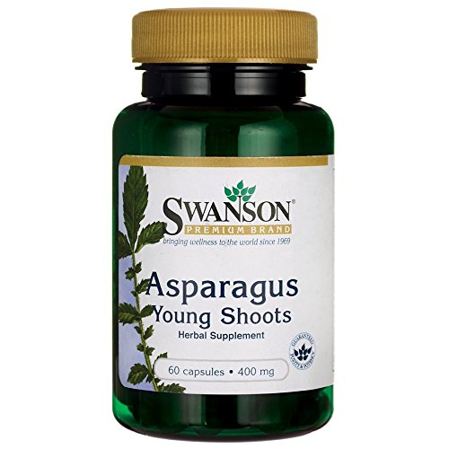 Swanson Asparagus Young Shoots 400 Milligrams 60 Capsules