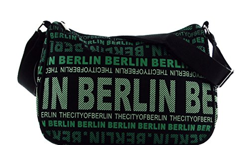 Robin Ruth Reißverschlusstasche Julia Gr.S BG2245-C Schwarz / Grün