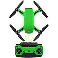 SopiGuard Matte Green Metallic Precision Edge-to-Edge Coverage Vinyl Sticker Skin Controller 3 x Battery Wraps for DJI Spark