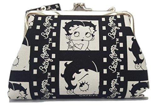 Betty Boop , Damen Clutch weiß schwarz