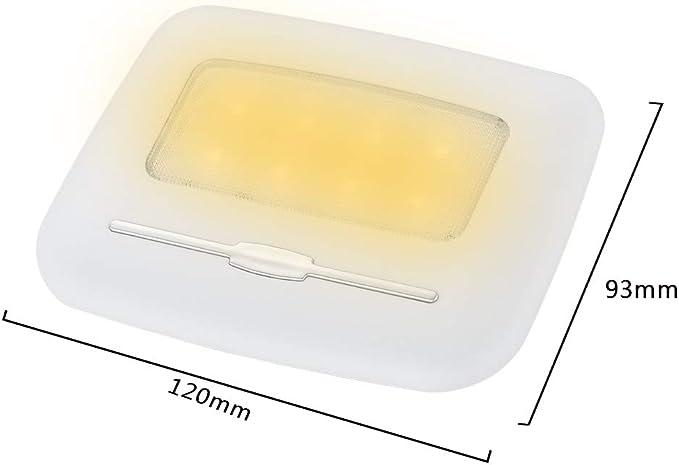 Luces de Placa Luces de Lectura de Autos Luces de Noche Little Ahevo Luces de Techo para Interiores de LED LED Luces de Caja Trasera Blanco c/álido Brillo de escuadra Luces de Puertas 3000K