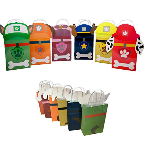 Paw Party Paper Gift Bags - 6 Bags by Lilly and the Bee Novelties