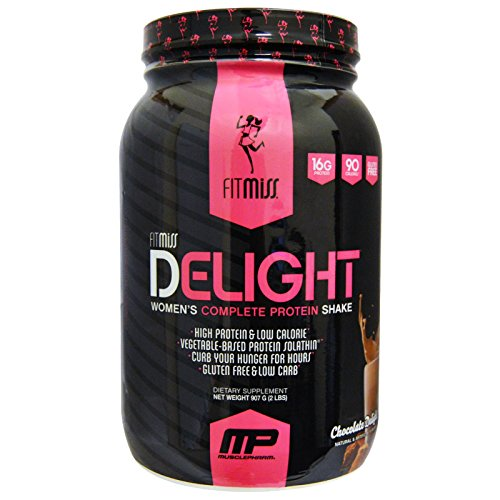 FitMiss, Delight, Women's Complete Protein Shake, Chocolate Delight, 2 lbs (907 g) - 3PC by FitMiss