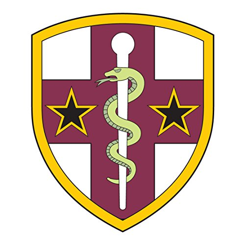 US Army - Reserve Medical Command SSI - 3.5 Inch Tall Full Color Decal (Patch Command Reserve)