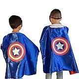 Captain America Costume Child | Superhero Cape Set | Including Accessories!