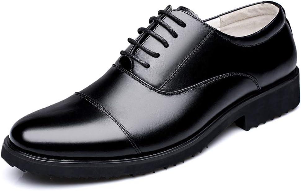 Chaussure en Cuir Habill/é daffaire Commercial Classique Automne Homme Basse Chaussure Bateau a Lacet Militaire de Ville au Loisir R/ésistant /à lusure