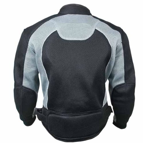 Xelement CF511 Mens Black Armored Mesh Sports Jacket - Small by Xelement (Image #2)