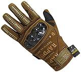 Rapdom Tactical Carbon Fiber Combat Gloves, Coyote, X-Large