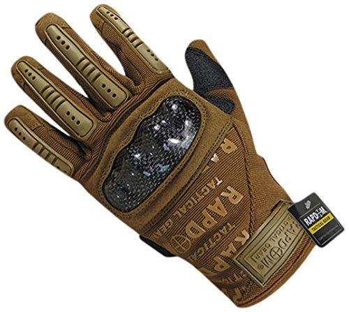 Rapdom Tactical Carbon Fiber Combat Gloves, Coyote, X-Large by RAPDOM
