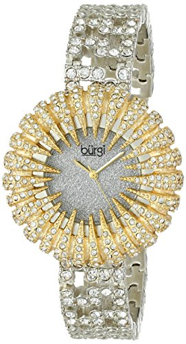 Burgi Women's BUR054YG Dazzling Crystal Quartz Bracelet Watch
