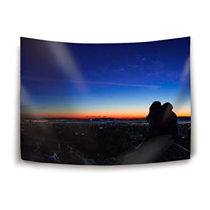 Wondrous Amazon Com Sinoval Tapestry Wall Hanging Couple Silhouette Download Free Architecture Designs Rallybritishbridgeorg