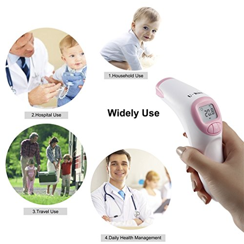 Forehead Digital Thermometer, Non-Contact Infrared, Instant Reading, GraceU Multi-Functional Temperature Infrared Scanner for Body, Surface & Room Measurement, Babies & Home Helper