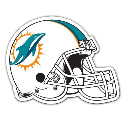 Fremont Die NFL Miami Dolphins 12-Inch Vinyl Helmet Magnet (Miami Magnet Football Dolphins)