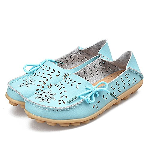 Queen Queen Leather Dear Sapphire Leather Womens Loafer Casual Womens Dear Shoes Casual 6wpEccXq