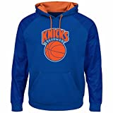 Majestic NBA Men's Armor II Polyester Pullover Hoodie (XXL, New York Knicks)