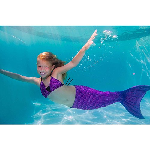 Fin Fun Mermaid Tail, Reinforced Tips, Monofin, Asian Magenta
