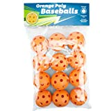 Regulation Size Orange Poly Baseballs - Set of 12!