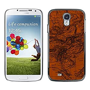 Be Good Phone Accessory // Dura Cáscara cubierta Protectora Caso Carcasa Funda de Protección para Samsung Galaxy S4 I9500 // Map Geography Ocean Currents Earth Planet Art