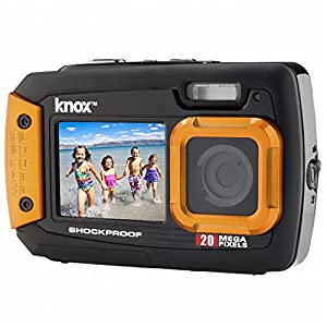 Knox Dual-Screen 20MP Rugged Underwater Digital Camera with Video (Orange)