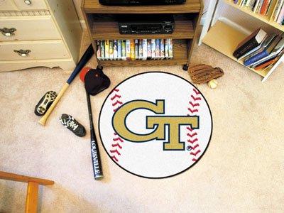 Fanmats Area Rug w Baseball Design & Georgia Tech Logo