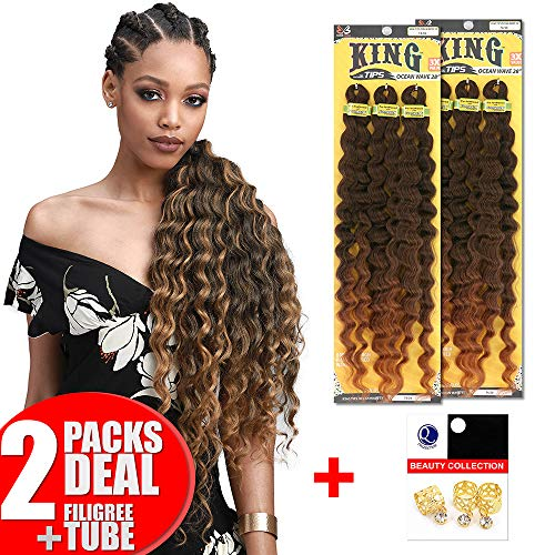 [2PACKS DEAL] Bobbi Boss King 3X Value Pre-Feathered Ocean Wave 28