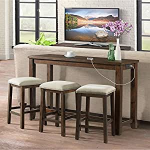 Prime Picket House Furnishings Dex Multipurpose Bar Table Set Pabps2019 Chair Design Images Pabps2019Com
