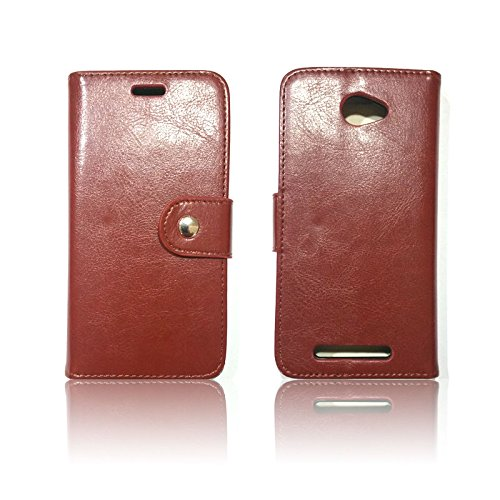 hot sale online 0e3a2 23181 Wallet Case Cover Stand for Blu Studio 5.0 LTE Y530q Three colors available  (BROWN) (Luxury Design)