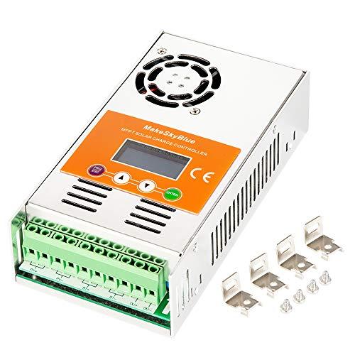 MakeSkyBlue 60A MPPT Charge Controller, Max Input 160V DC 2800W Solar Panel, LCD Display, Auto 12V/24V/36V/48V Battery System (60A-V118)