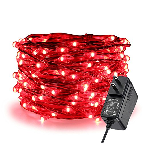 100 Red Led Christmas Lights in US - 7