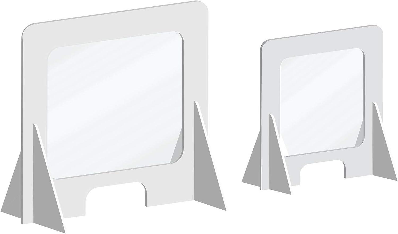 Mampara de protección en Pegasus de 5 mm y Glasspack | 66x75cm | Pantallas Protectoras de metacrilato en Diferentes Medidas | Separadores de mostrador: Amazon.es: Hogar