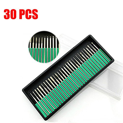 30 Pcs Nail Art Electric Drill Bits Replacement Manicure Pedicure Files Kit Set Tool Free shipping