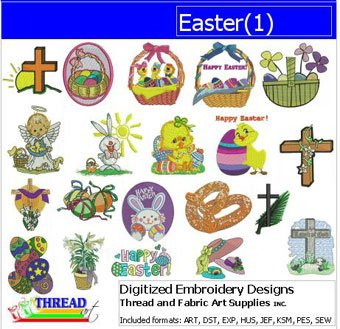 Easter Machine Embroidery Designs - 9