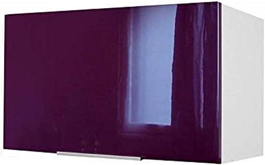 Berlenus CP8HA - Mueble Alto de Cocina sobre campaña extractora (60 cm), Color Berenjena Brillante: Amazon.es: Hogar