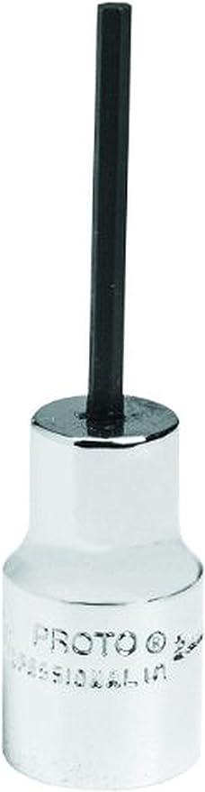 """Sz.,4990-4M*NEW! PROTO Steel Socket Bit,Hex,4mm Tip Sz.,3//8/""""Dr"""