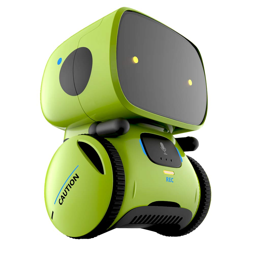 Yingtesi Smart Robot Interactive Toys for Age 3 Years Old Boys Girls Kids,Voice Command,Touch Control,Music and Sound Robotics Green