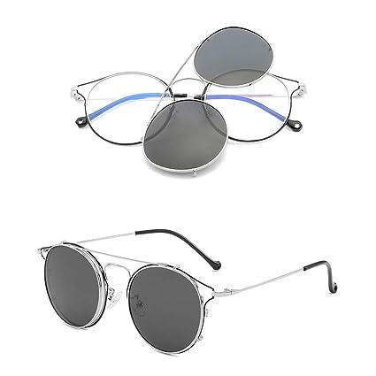 YHgiway Gafas de Montura Redonda de Estilo Vintage - Marco ...