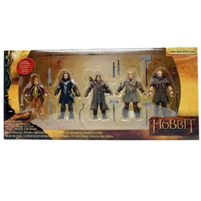 The Bridge Direct Hobbit Hero Pack - Bilbo Thorin Dwalin Kili And Fili 375 Figure Box Set from The Bridge Direct