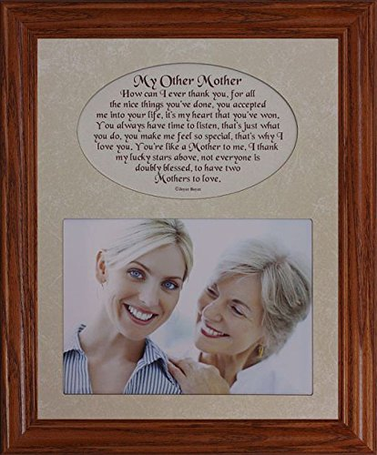 8x10 MY OTHER MOTHER ~ Photo & Poetry Frame ~ Holds a Landscape 5x7 Picture (FRUITWOOD #830)