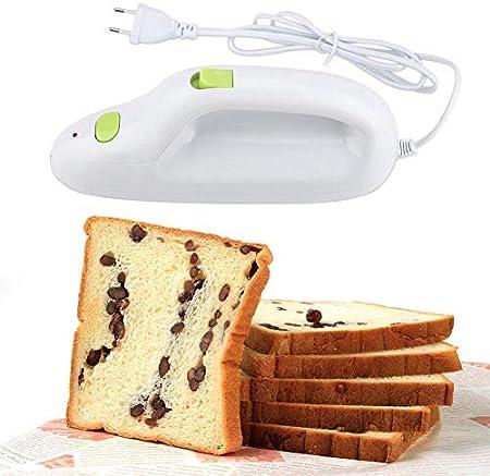 Cuchillo Eléctrico Pan, Cuchillo Eléctrico para Pan Cuchillo Portátil de acero Inoxidable Cuchillo Eléctrico para carne, Pan, Queso, Vegetales y Frutas