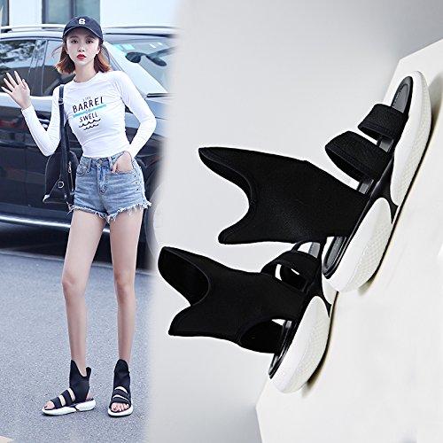 Chaussures Chaussures Style blanc Femmes Eté Sandales Printemps Femmes Universel Nouveau Roman QQWWEERRTT Mode qHCfOw5